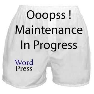 mode maintenance wordpress